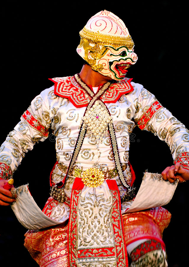 Khon-Thaise Dans royalty-vrije stock afbeeldingen