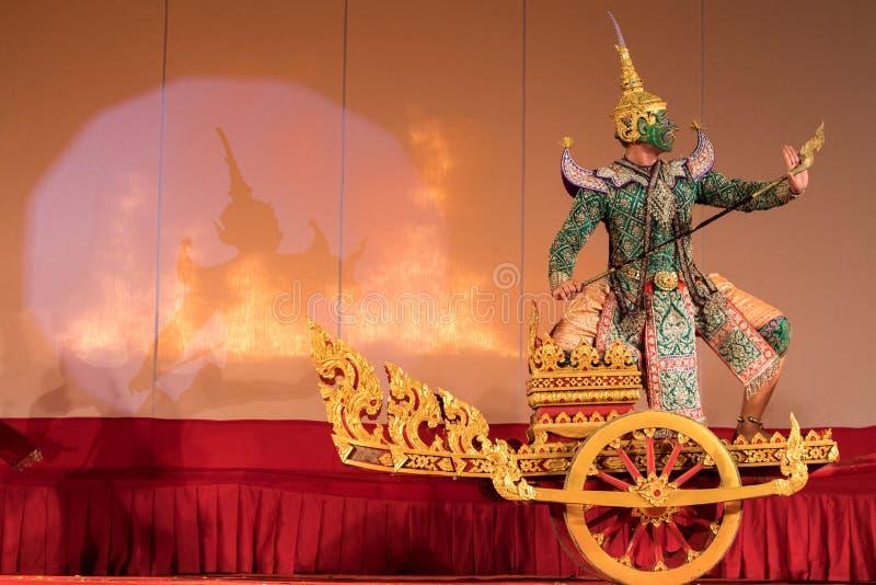 Khon traditionell thailändsk dansdrama arkivfoton