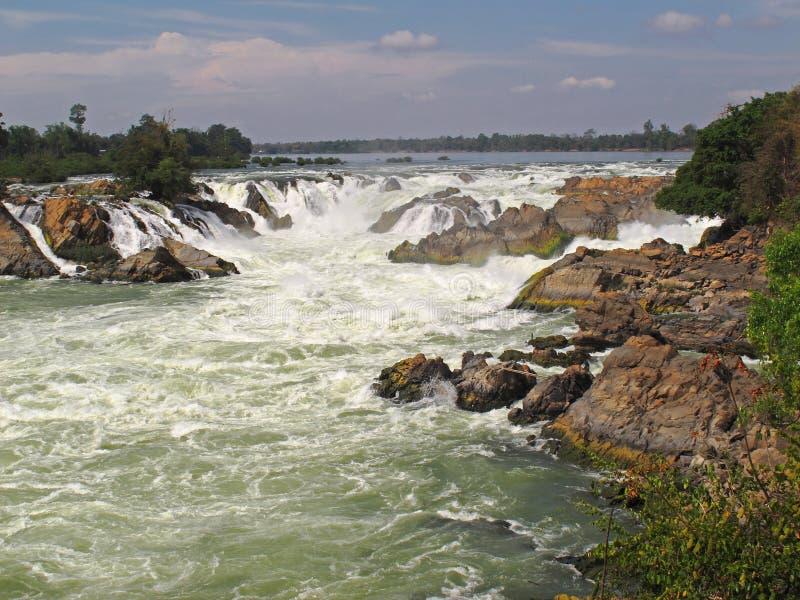 Khone Falls - Laos royaltyfria bilder