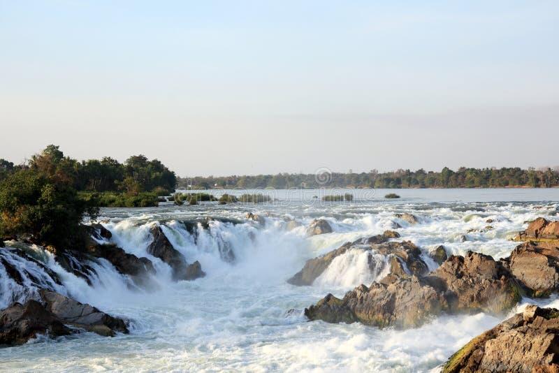 Khone Phapheng tombe au Laos image libre de droits