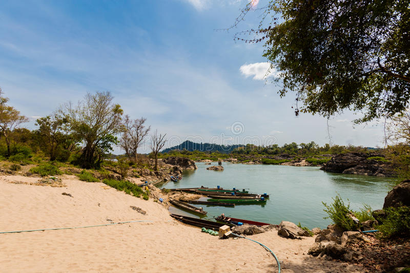 Khongyai beach Don Khone Laos stock image