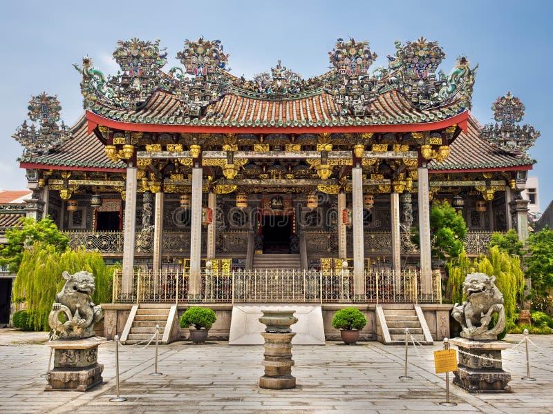 Khoo Kongsi Clanhouse寺庙在乔治市,槟榔岛,马来西亚 库存图片