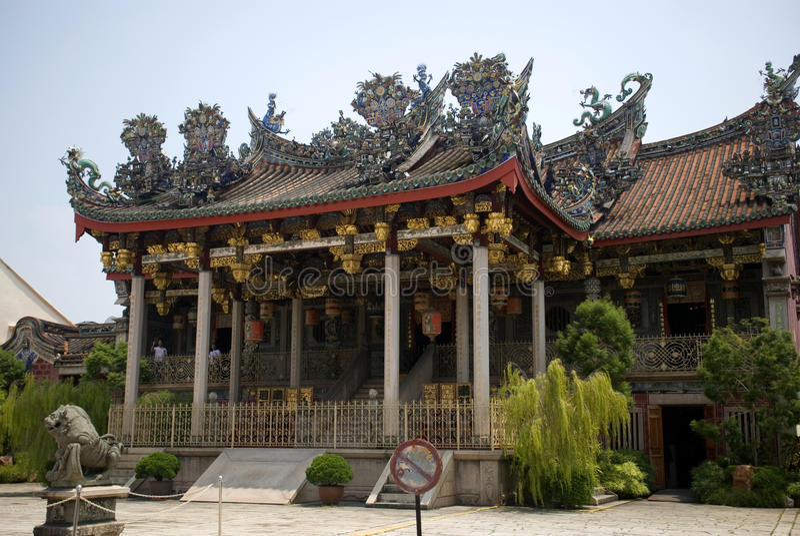 Khoo Kongsi, Georgetown, Penang, Malesia fotografia stock