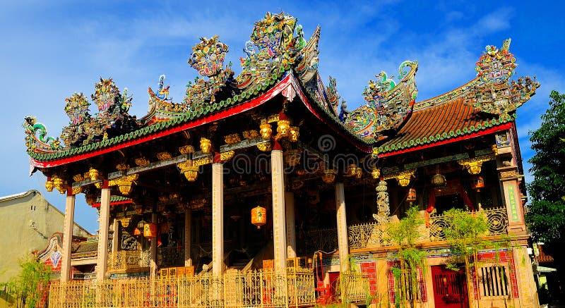 Khoo Kongsi tempel royaltyfri fotografi