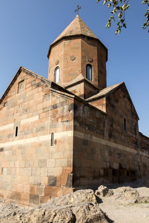 Khor Virap de diepe kerker is een Armeens gevestigd klooster royalty-vrije stock afbeeldingen