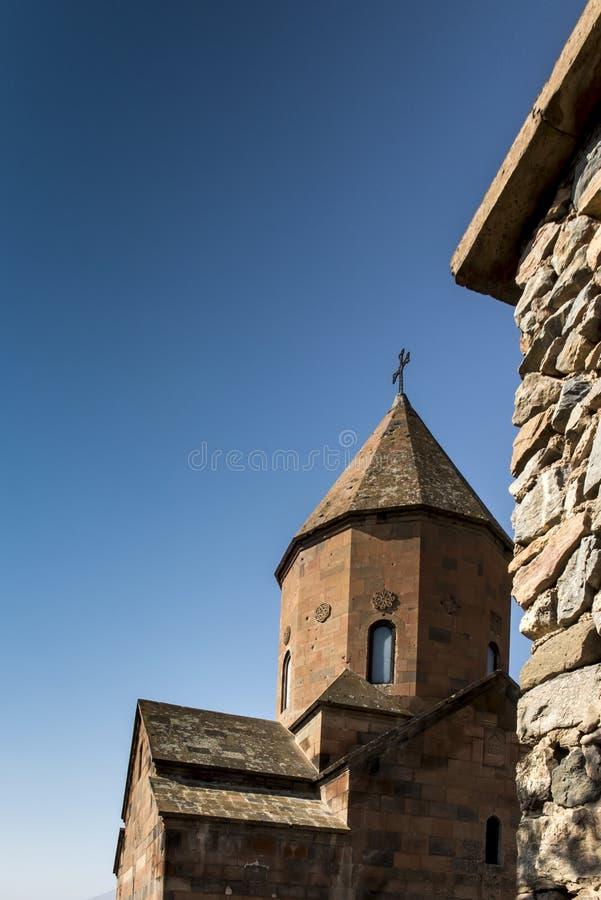 Khor Virap de diepe kerker is een Armeens gevestigd klooster stock foto