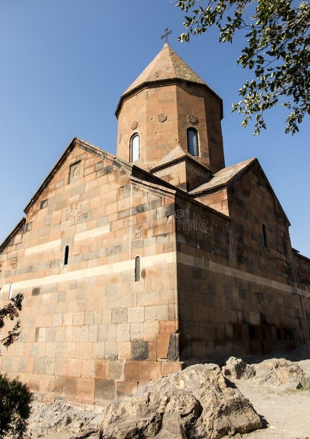 Khor Virap de diepe kerker is een Armeens gevestigd klooster royalty-vrije stock foto's