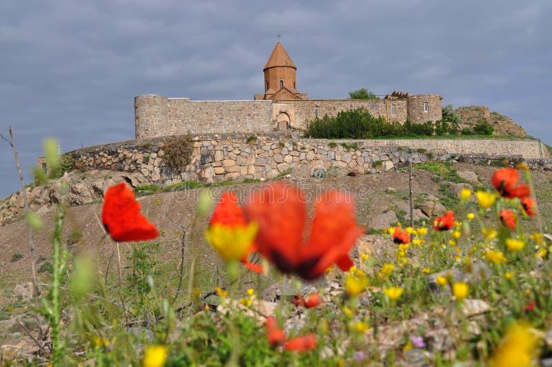 Khor Virap kloster i Armenien royaltyfri bild
