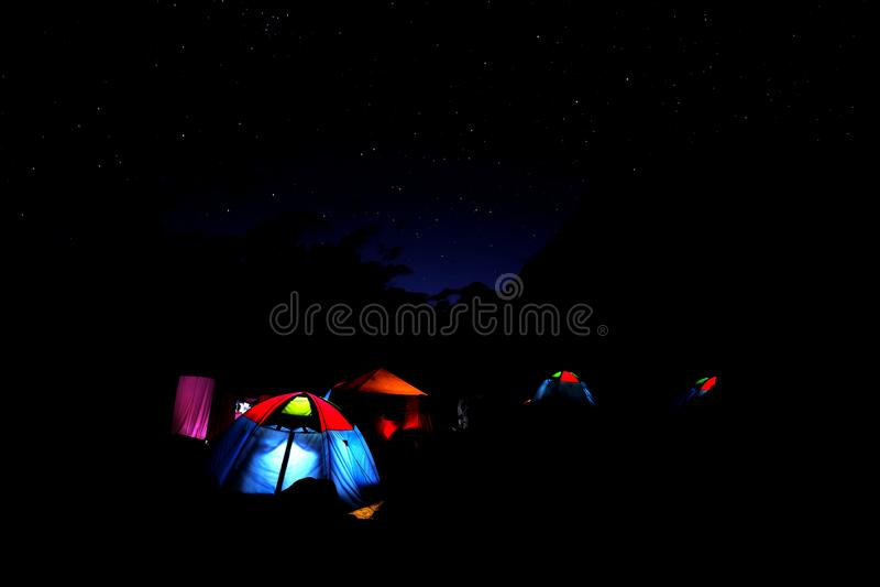 Khorburtse, notte fotografia stock libera da diritti
