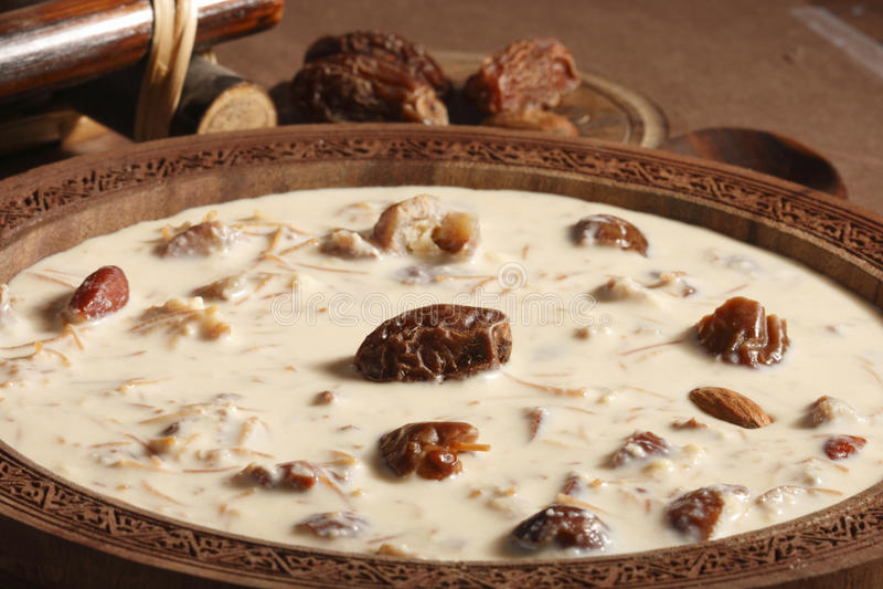 Khorma pur Sewiya - un plat doux d'Inde image libre de droits