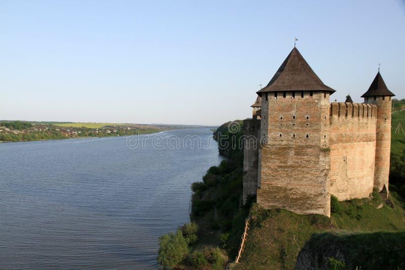 Khotyn堡垒,乌克兰 免版税库存图片