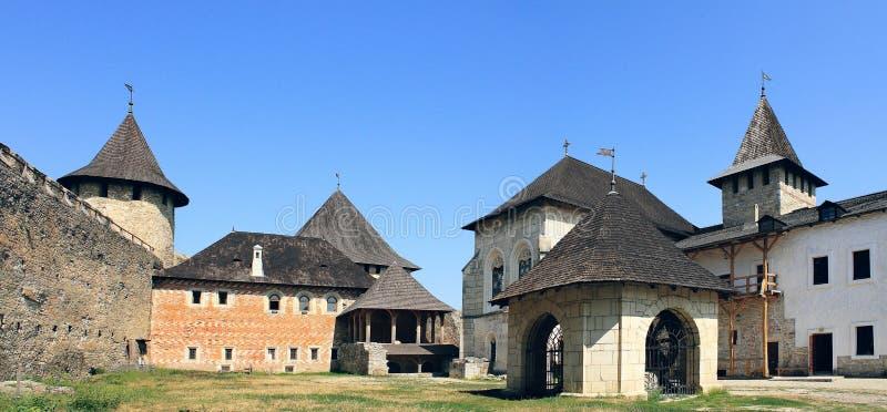 Khotyn fästning royaltyfria foton