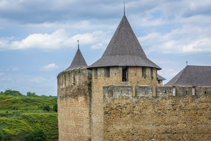 Khotyn forteca w Ukraina fotografia royalty free
