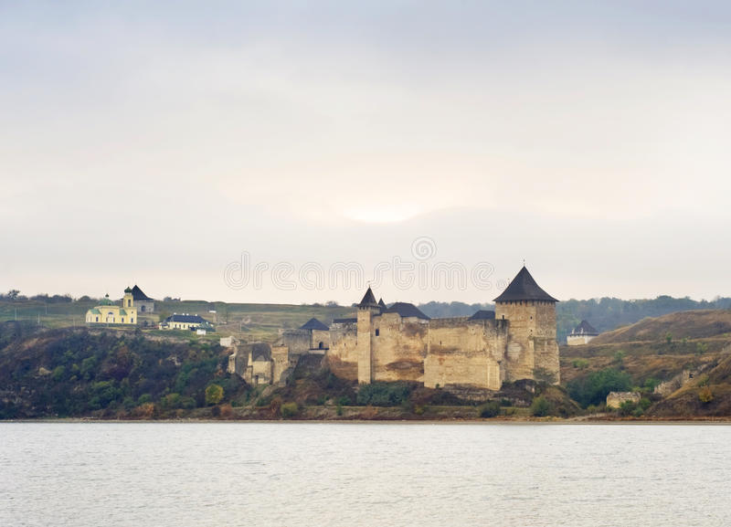 Download The Khotyn Fortress stock image. Image of kamianets, famous - 22056361