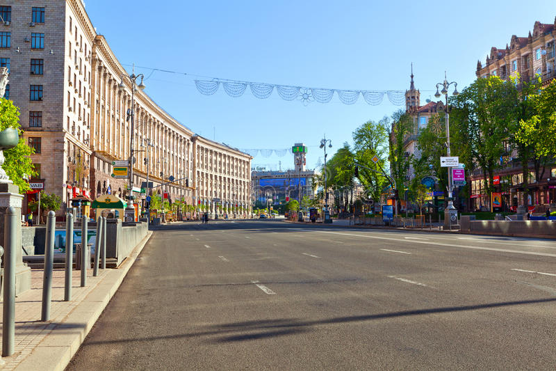 Khreschatyk, Kijów, Ukraina. obrazy stock