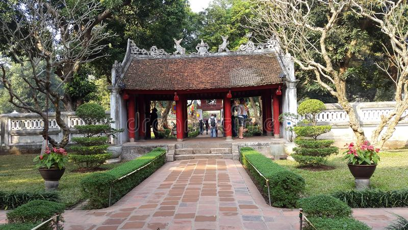 Khue Van pavilion, ναός της λογοτεχνίας, Ανόι, Βιετνάμ στοκ εικόνα