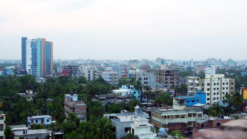 Khulna stadslandskap i Bangladesh royaltyfri bild