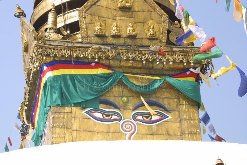 khumbu尼泊尔stupa 免版税库存图片
