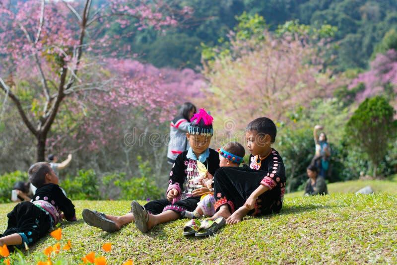 Khun张Kian孩子, Chiangmai 免版税库存图片