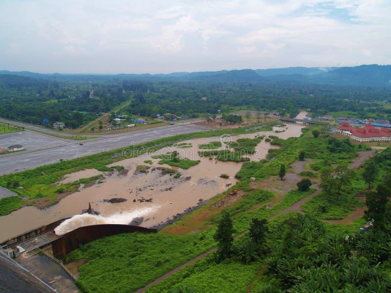 Khun Dan Prakan Chon Dam Royaltyfri Fotografi