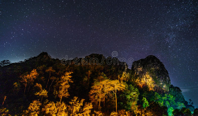 Khun Phawo nationalpark royaltyfri foto