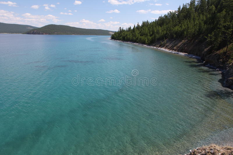 Khuvsgul lake. Khuvsgul nuur is located in the northwest of Mongolia near the Russian border, at the foot of the eastern Sayan Mountains. It is 1,645 metres 5 royalty free stock photo