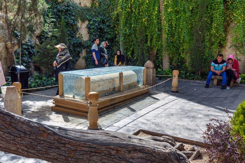 Khwaju Kermani gravvalv på backen Sabooy i Shiraz iran arkivbild