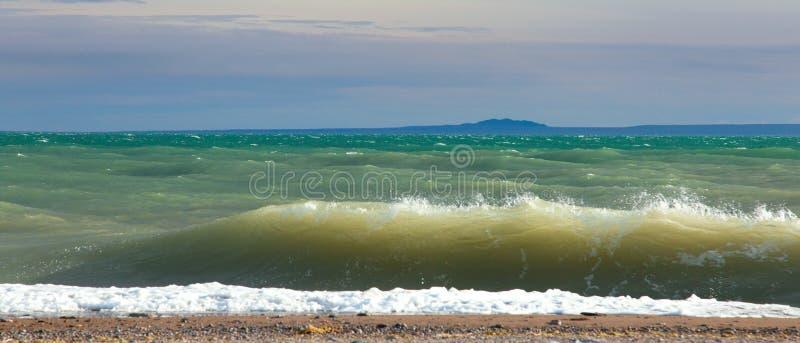 Khyargas Nur lake in Mongolia. Is on the edge of the Gobi Desert royalty free stock photos