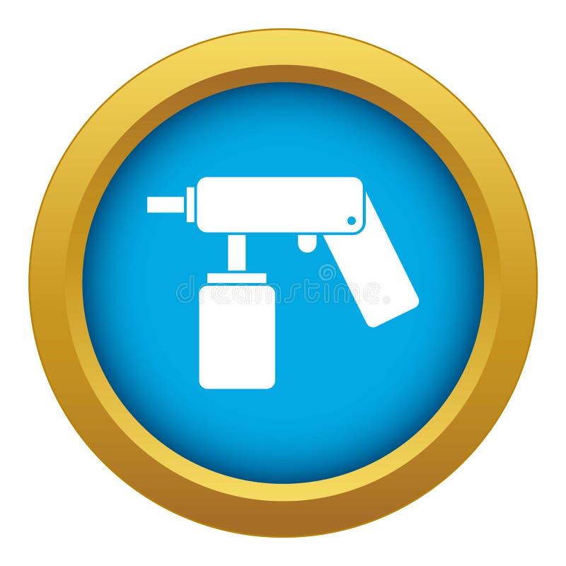 Kiść aerosol może butelkować z nozzle ikony błękitnym wektorem odizolowywającym ilustracja wektor