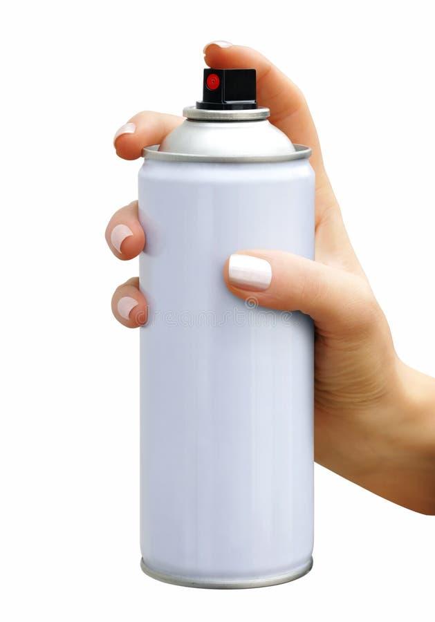 Kiść aerosol w żeńskiej ręce zdjęcie royalty free