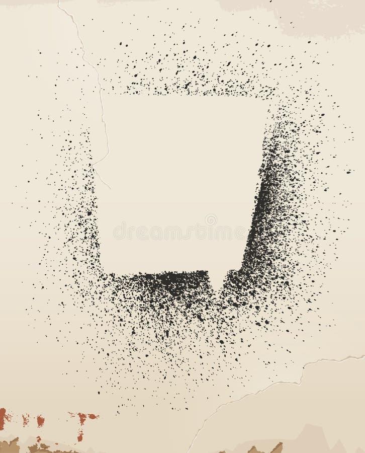 Kiść malujący mowa bąbel na starej ścianie. royalty ilustracja