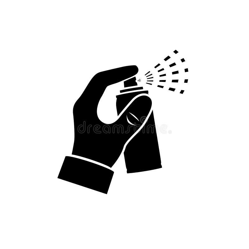 Kiść w ręki sylwetce ilustracji