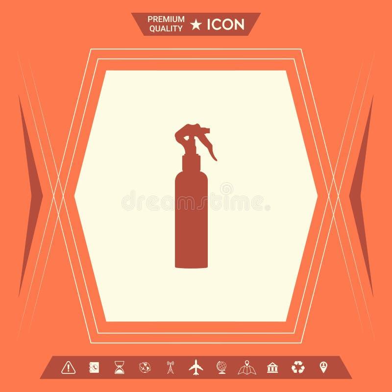 Kiści butelki sylwetka ilustracja wektor