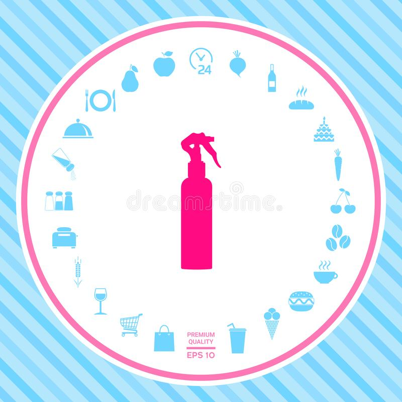 Kiści butelki sylwetka ilustracji
