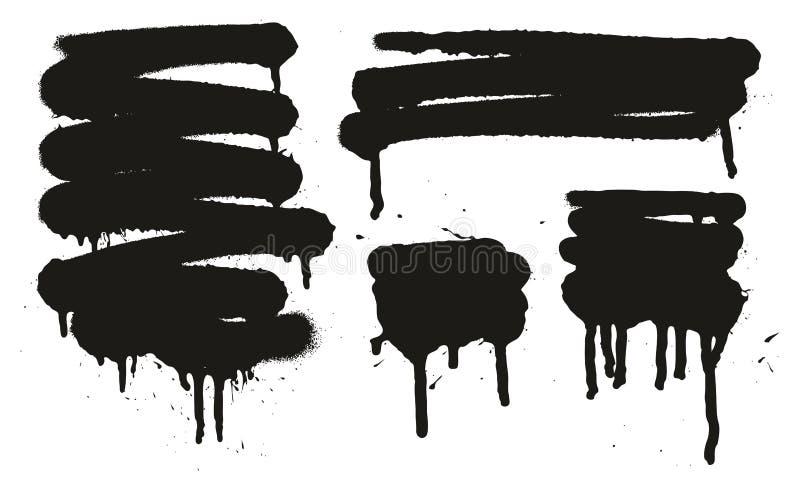 Kiści farby Abstrakcjonistyczni Wektorowi tła Ustawiają 13 ilustracji