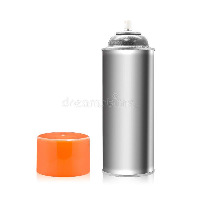 Kiści farby butelka odizolowywająca na białym tle Opróżnia przedmiot dla projekta ?cinek ?cie?ka ilustracja wektor