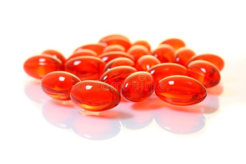 kiście żelu czerwone pigułki makro obrazy stock