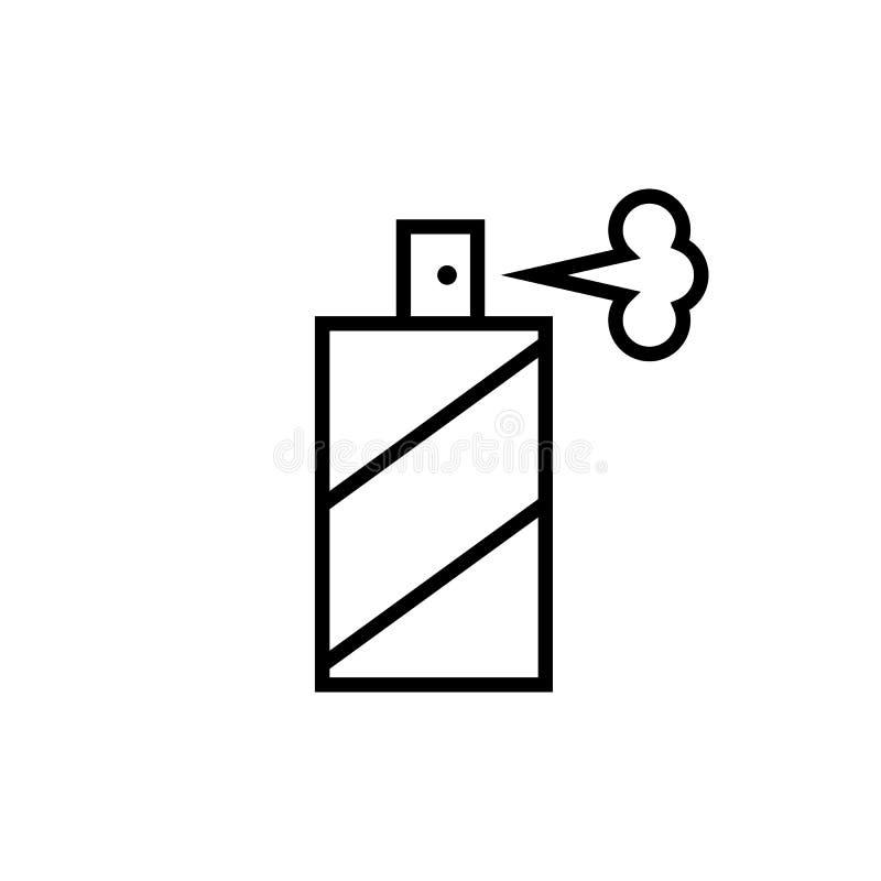 Ki?ci butelki linii ikona Graficzni elementy dla tw?j projekta royalty ilustracja