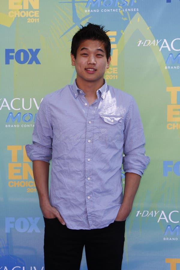 Ki Hong die Lee bij de Toekenning van de Keus van de Tiener van 2011 aankomt stock afbeeldingen