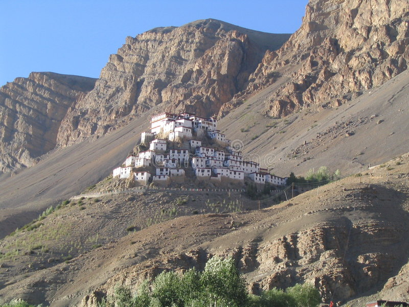 Download Ki Monastery stock photo. Image of house, foothills, nunnery - 154090