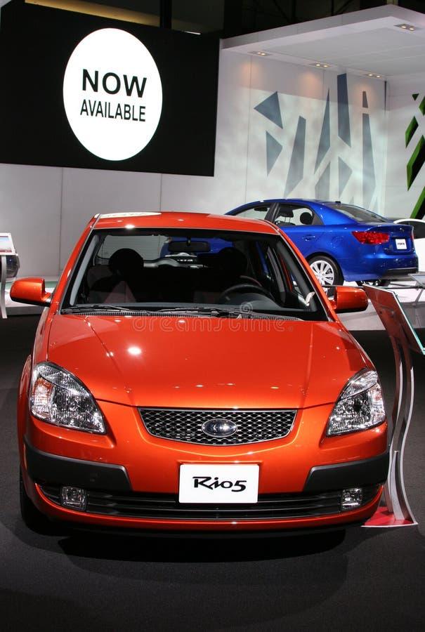 kia του 2009 rio5 στοκ εικόνες