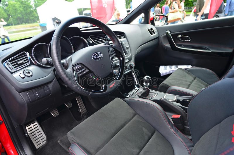 Kia Ceed GT interior editorial stock photo. Image of model - 41837288