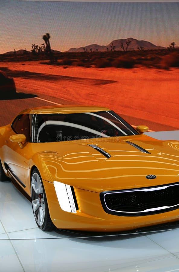 KIA des véhicules à moteur au NAIAS photographie stock libre de droits