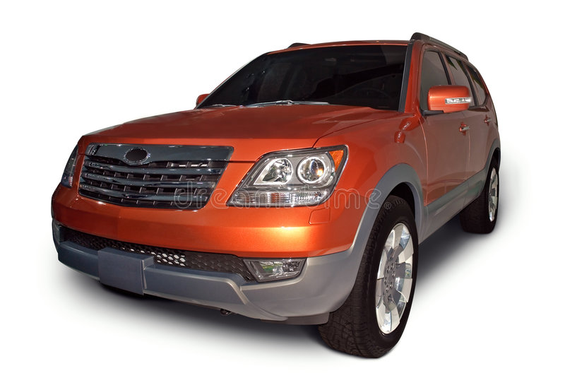 Kia novo Borrego SUV imagens de stock royalty free