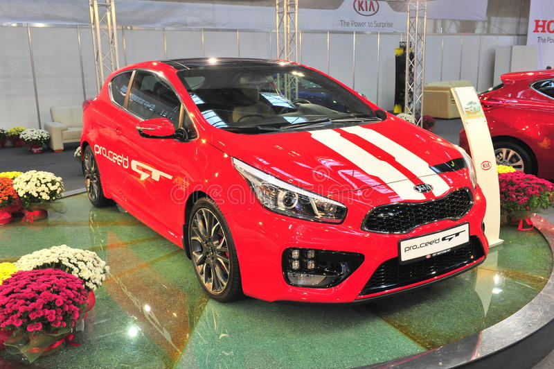 Kia Pro Cee ' d GT no SAB mostra 2014 imagens de stock royalty free