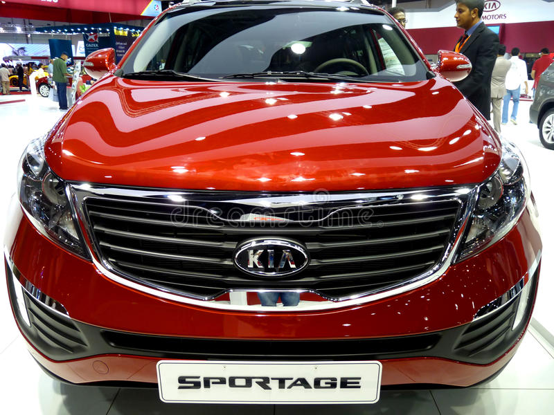 Download KIA Sportage editorial image. Image of show, race, brand - 17412700