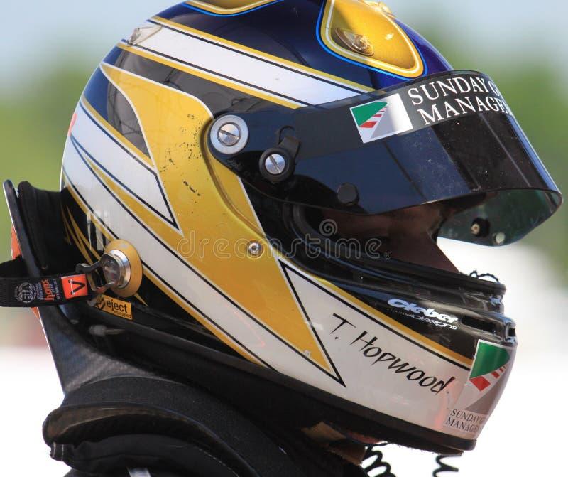 KIA tävlings- chaufför arkivbild
