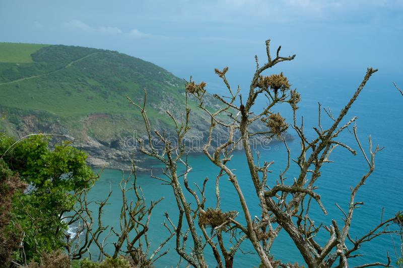 Kibberick Cove on the south coast of Cornwall, England royalty free stock photography