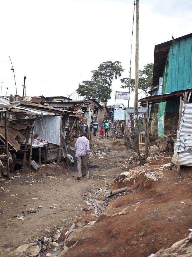 Kibera Kenia lizenzfreies stockbild