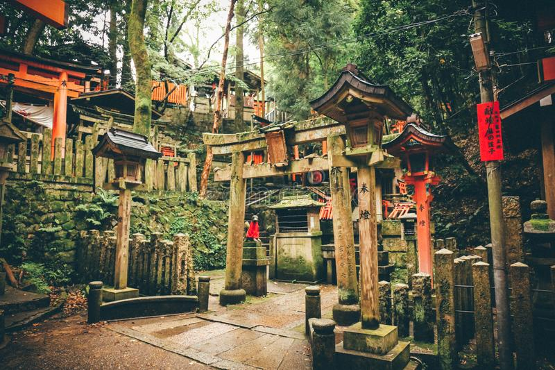 Kibitsu,Thousands of this academic,Japan. Photo taken during a solo trip to Janpan last year.There are countless birdhouses(or Thousands of this royalty free stock images